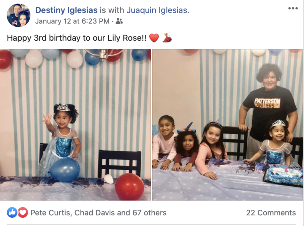 Destiny and Juaquin Iglesias Celebrate Their Daughters Birthday
